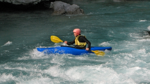 Classes start you out on friendly Class II whitewater.