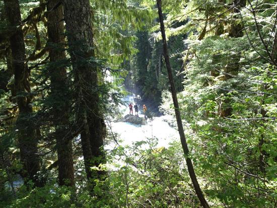 Upper Upper North Fork Skykomish Waterfall Run 1