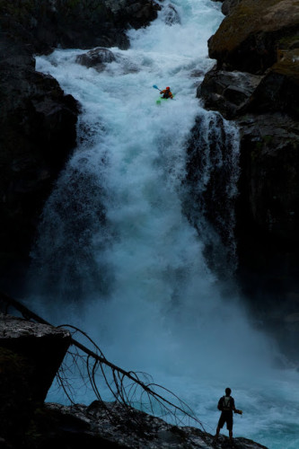 Jeremy Bisson on Silver Falls, Ohanepecosh River