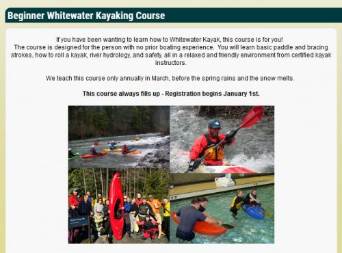 Last year's WKC whitewater kayaking class
